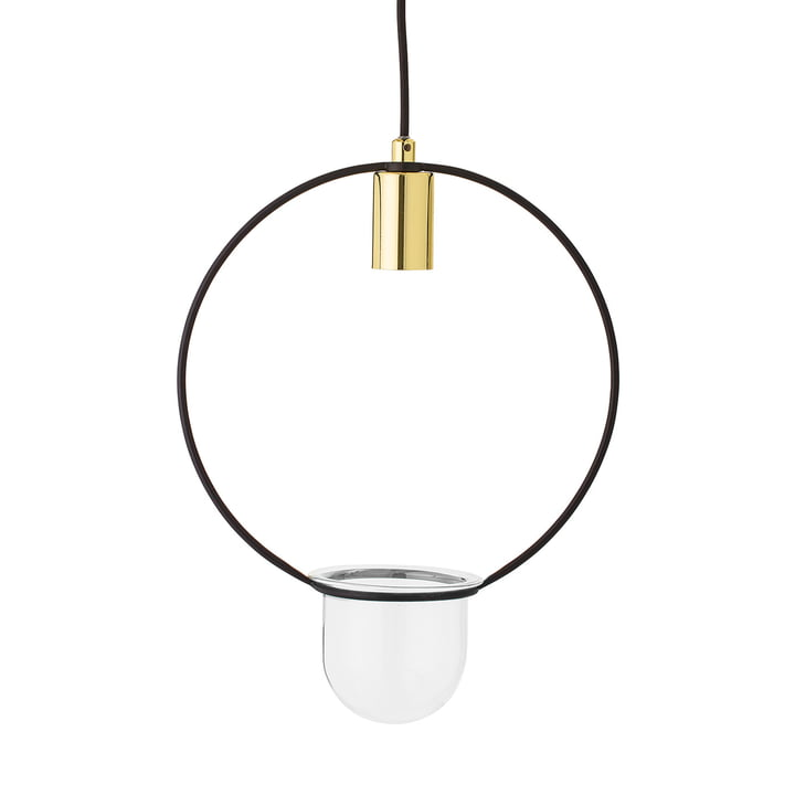 The Bloomingville - Flowerpot Pendant Lamp, Round in Metal / Gold