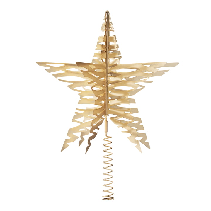 Tangle Christmas Tree Star by Stelton in Brass