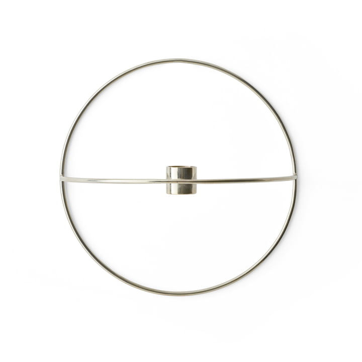 Menu - Pov Circle Candleholder, S in Silver