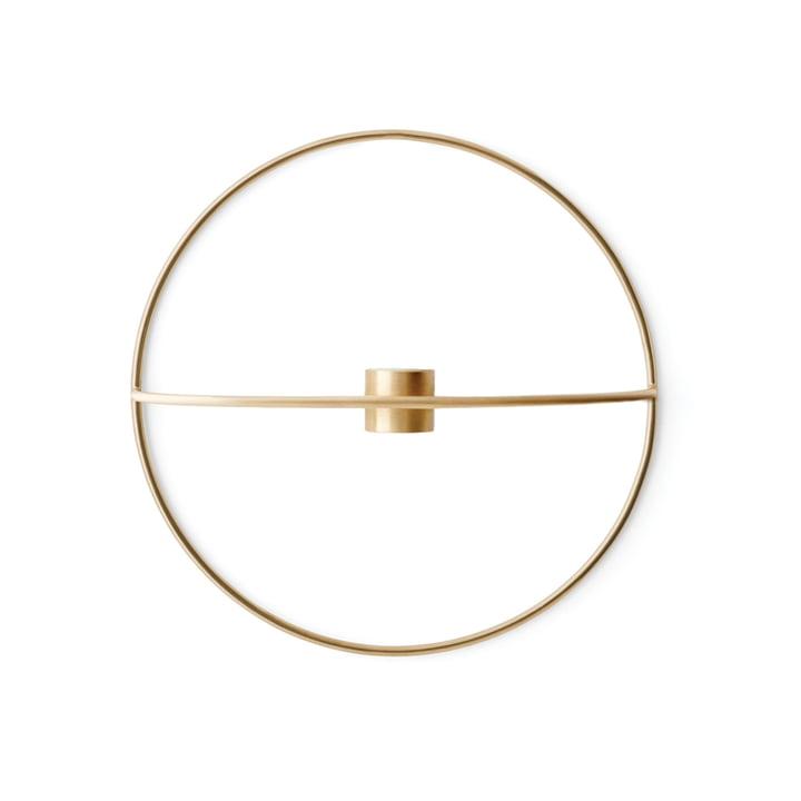 Menu - Pov Circle Candleholder, L in Brass