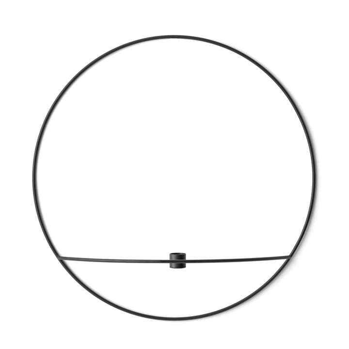 Menu - Pov Circle Candleholder, L in Black