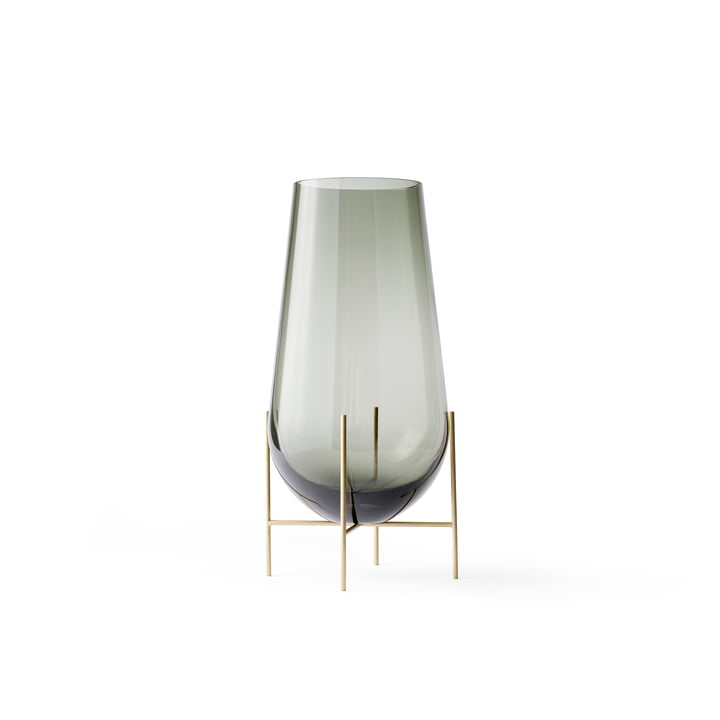 Échasse Vase S from Menu in Smoke / Brass