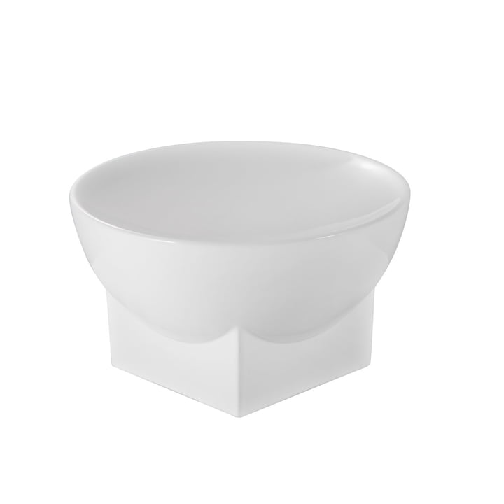 Mila Bowl, Large, H 16 x Ø 28 cm by Pulpo in White