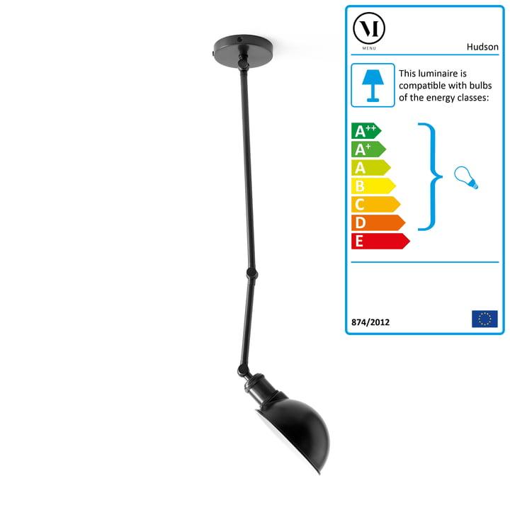 The Menu - Hudson Ceiling Lamp in Black