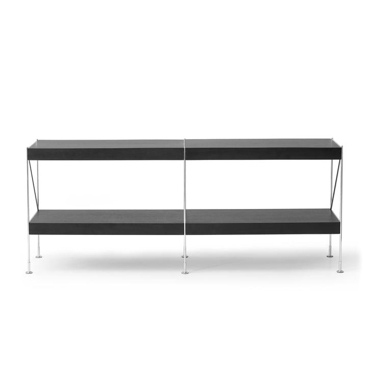 The Menu - Zet Storing System sideboard, 2 x 2 in black / black