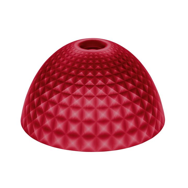 The Koziol - Stella Silk Lampshade M in Transparent Red