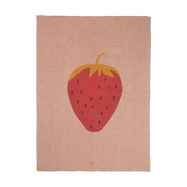 Fruiticana Kids Blanket 80 x 100 cm by ferm Living, Strawberry