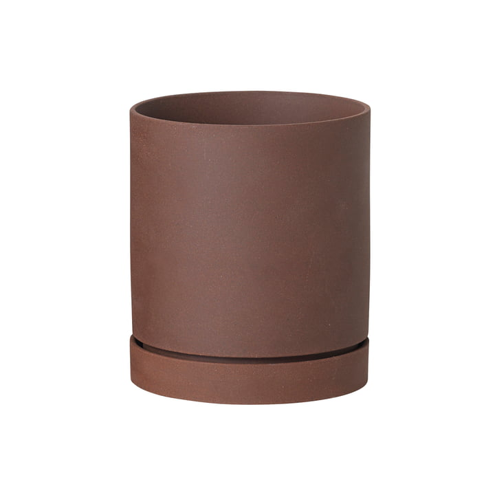 ferm Living - Sekki Pot, medium in Russet