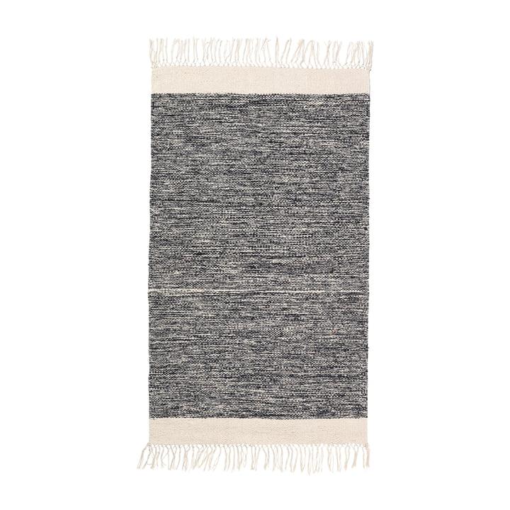 Melange bath mat 60 x 100 cm from ferm Living in Black
