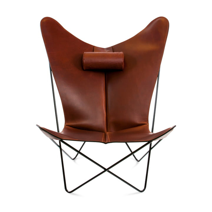 KS Chair by Ox Denmarq made from Black Steel / Cognac Leather