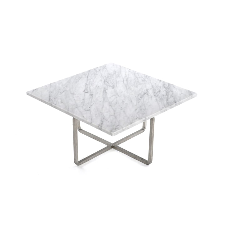 Ninety Coffee Table 60 x 60 cm by Ox Denmarq made of Stainless Steel / White Marble
