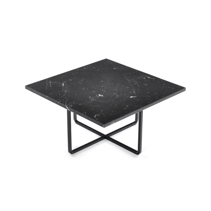 Ninety Coffee Table 60 x 60 cm by Ox Denmarq in Black Steel / Black Marble