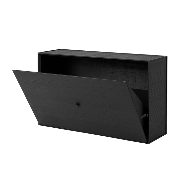 Frame Shoe Cabinet from by Lassen in Black Ash