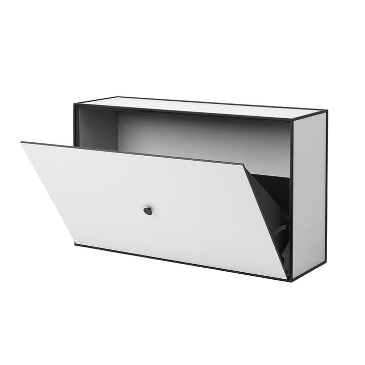 Frame shoe cabinet by Lassen in light grey