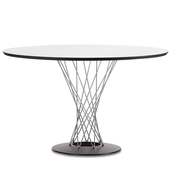Vitra - Dining Table by Isamu Noguchi, Ø 121 cm, white / chrome