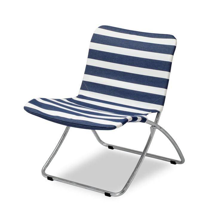 Der Skagerak - Lise Sunchair, dark blue stripes