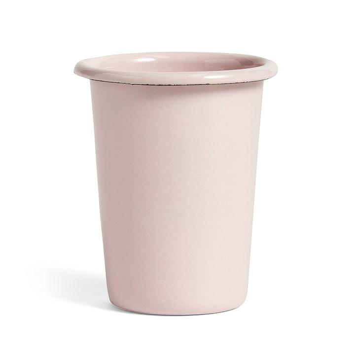 Enamel Mug by Hay in Brown and Soft Pink
