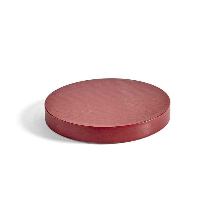 Round Cutting Board M by Hay in Burgundy