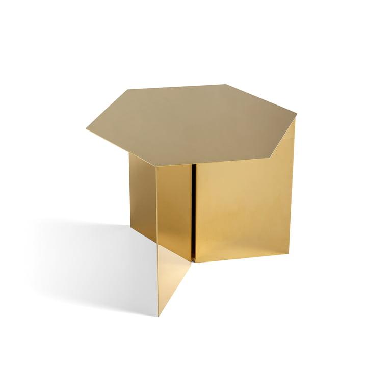 Hay - Slit Table Hexagon, brass