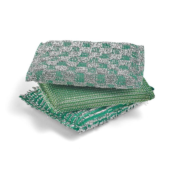 The Hay - Glitter Sponge, Green (Set of 3)