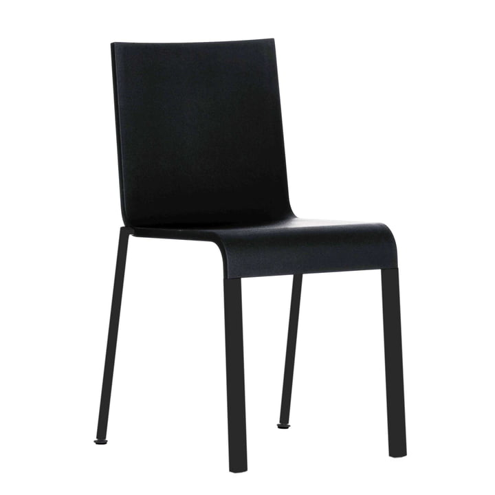 .03 Chair by Vitra in Black / Basic dark (stackable)