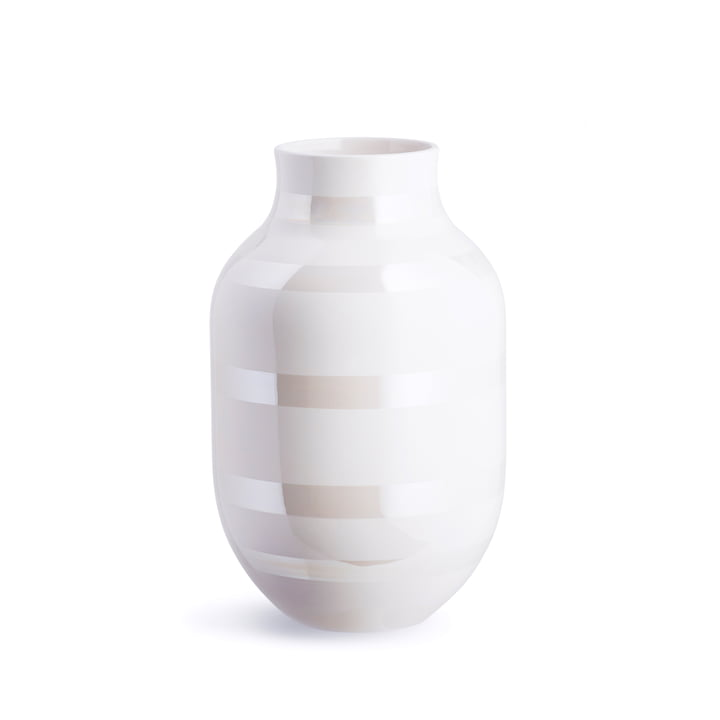 Omaggio Vase H 305 by Kähler Design in mother-of-pearl