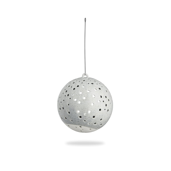Nobili Tealight candle ball Ø 12 cm hanging from Kähler Design in grey