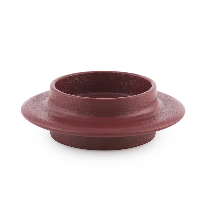 Normann Copenhagen - Heima Block Candle Holder, dark red