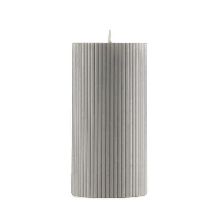 Normann Copenhagen - Grooved Pillar Candles in Grey