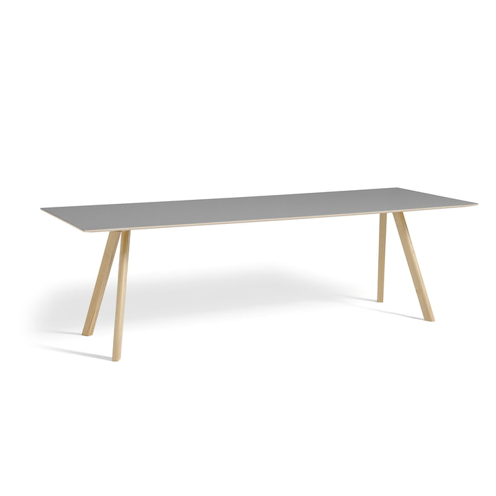 Hay - Copenhague CPH30 Table 250 x 90 cm in Matt Lacquered Oak / Grey Linoleum