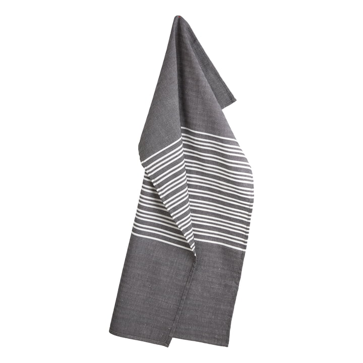 Horizontal Tea Towel 50 x 80 cm by Georg Jensen Damask in Asphalt