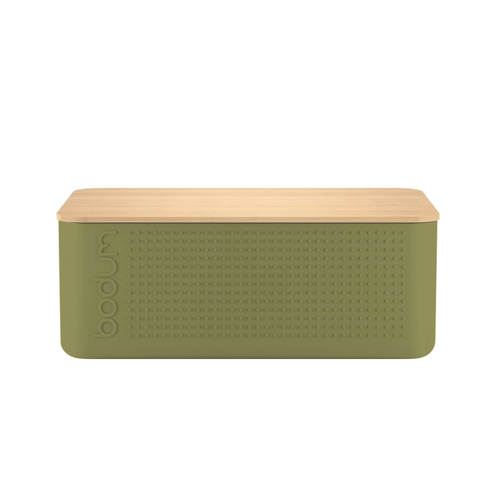 Bistro Bread Bin, Small by Bodum in Olive Green