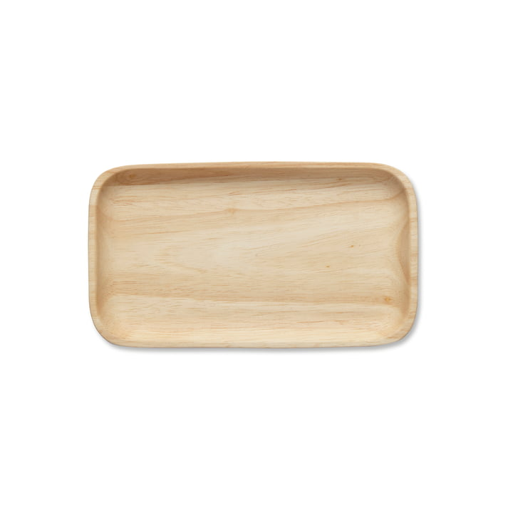 Isolated product image of the Oiva natural wooden tray by Marimekko.