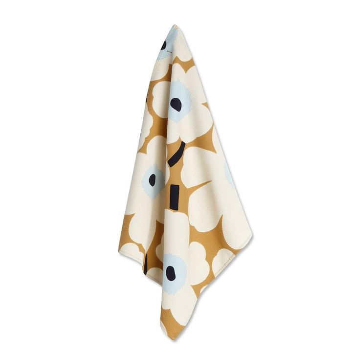 Marimekko - Unikko Tea Towel white / beige/ blue
