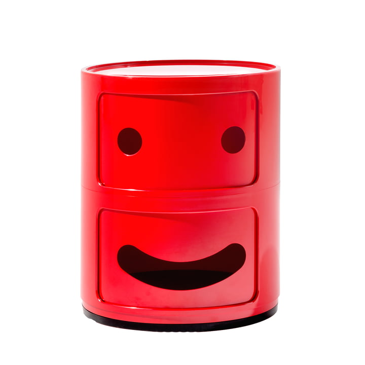 Kartell - Componibili Smile 4924, red