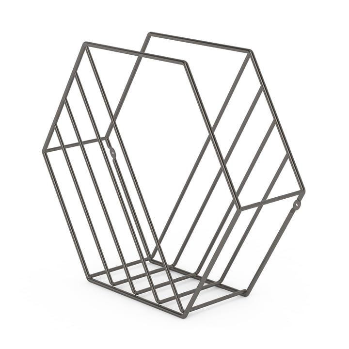 Zina Magazine Rack by Umbra with Titanium Finish