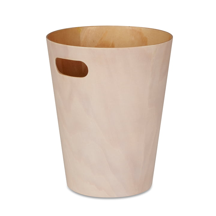 The Umbra - Woodrow Waste Paper Bin in White