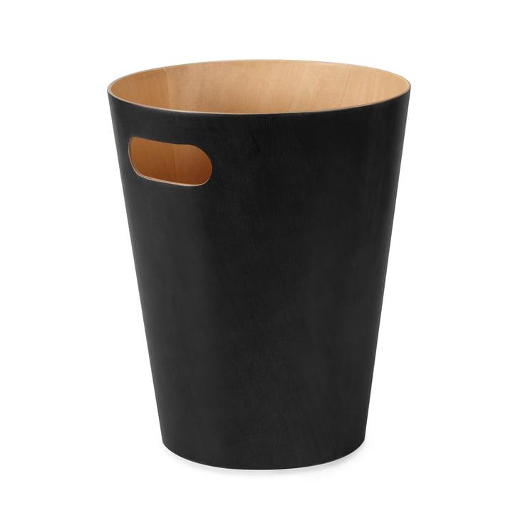 The Umbra - Woodrow Waste Paper Bin in black