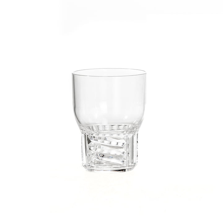 The Kartell - Trama Drink Glass, H 11 cm / Clear Glass