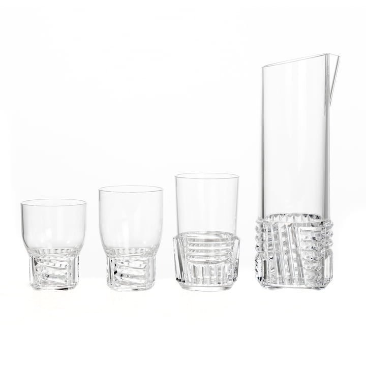 The Kartell - Trama Drink Jug and Glasses
