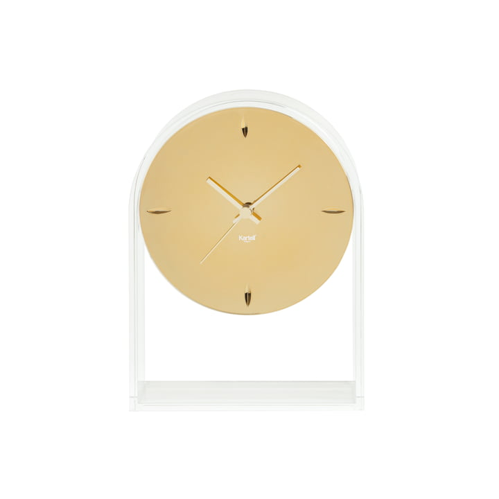 Kartell - Air du Temps Table Clock, Clear Glass / Gold