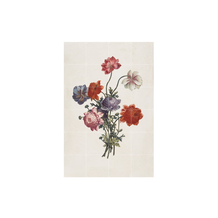Bouquet of Anemones (Ruotte), 80 x 120 cm by IXXI
