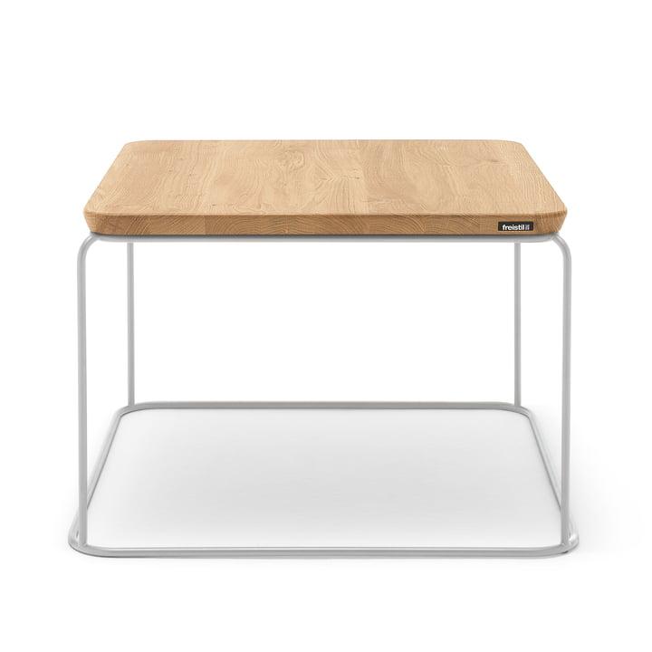 151 Coffee Table 61 cm x 61 cm by Freistil in Natural Oak / Telegrey (RAL 7074)
