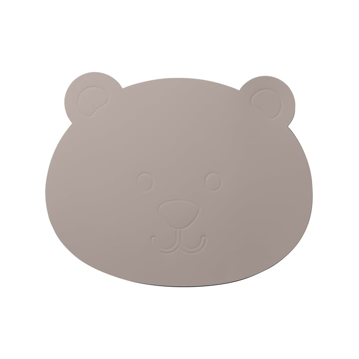 The LindDNA - Children's table set bear in Softbuck cool grey