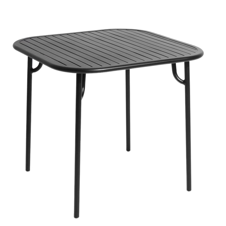 Petite Friture - Week-End Bench, 85 x 85 cm / black (RAL 85)