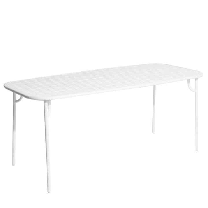 Petite Friture - Week-End Bench, 180 x 85 cm / white (RAL 85)