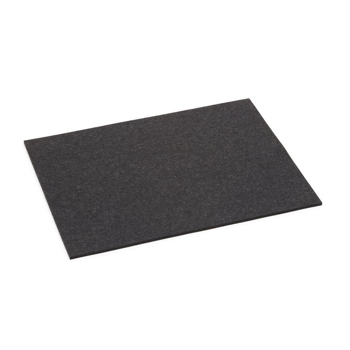 The Hey Sign - Rectangular Placemat, 5 mm in Graphite