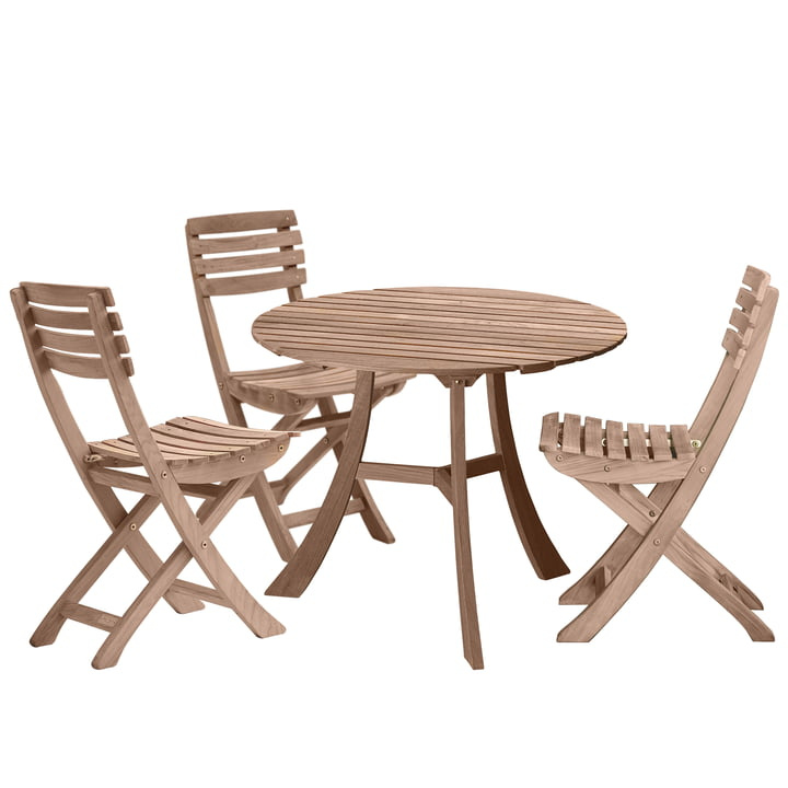 Skagerak - Vendia Set, teak (1 table and 3 chairs)