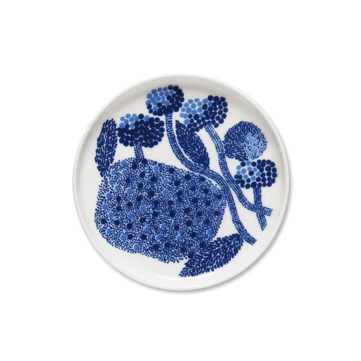 The Marimekko - Oiva Mynsteri round Ø 13.5 cm, blue / white
