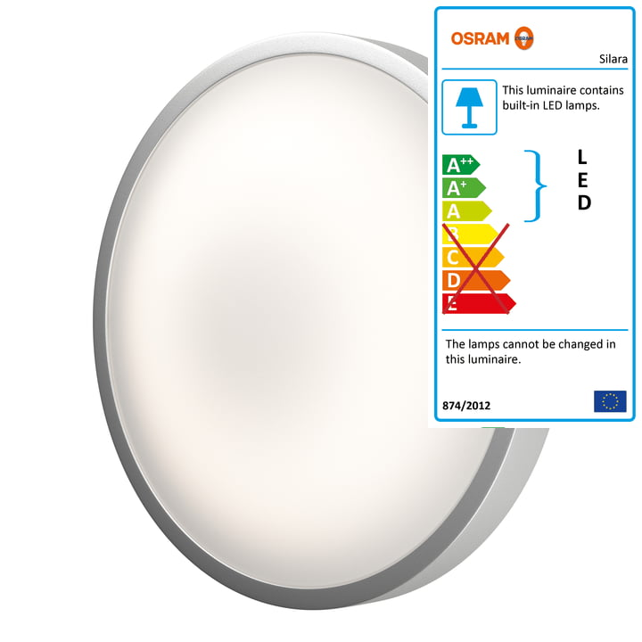 Silara Remote LED wall and ceiling lamp Ø 41 cm dimmable by Ledvance